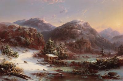 Regis Francois Gignoux Winter in the Mountains
