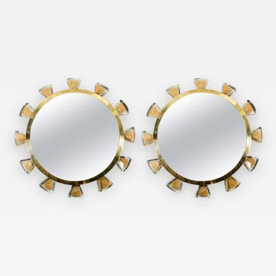 Regis Royant Murano and Glass Mirror
