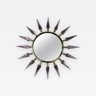 Regis Royant Sunburst Murano Glass Mirror