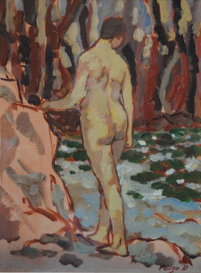 Reiner Karges Karges Seated Nude 2 of Pair