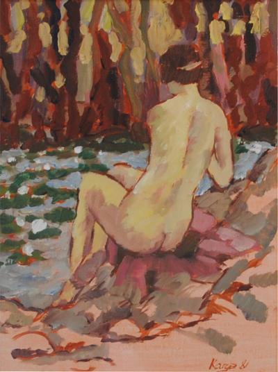 Reiner Karges Karges Standing Nude 1 of Pair