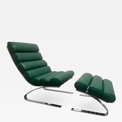 Reinhold Adolph Sinus Lounge Chair Ottoman by Reinhold Adolf Hans Jurgen Schropfer for COR