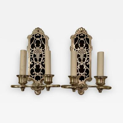 Remains Lighting Art Deco Silver Wall Light Sconces