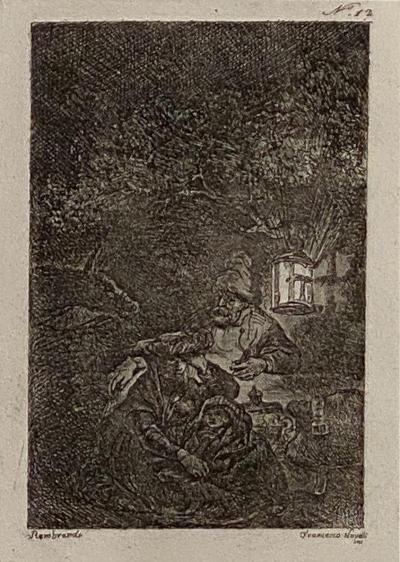 Rembrandt Etching 12 by Francesco Novelli Italy