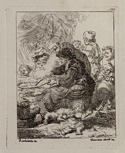 Rembrandt Etching 17 by Francesco Novelli Italy Circa 1770
