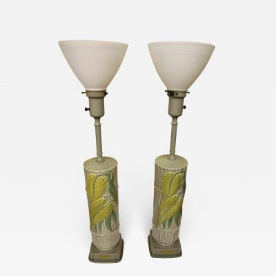 Rembrandt Lamp Company Great Pair of Ceramic Rembrandt Lamps