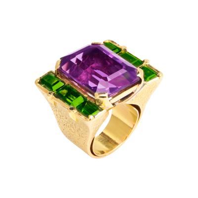 Ren Boivin Amethyst Tourmaline Ring by Rene Boivin