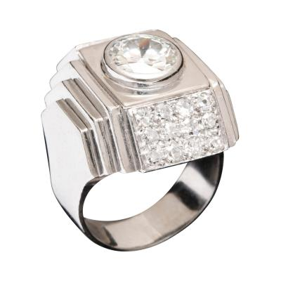 Ren Boivin Diamond Ring in Platinum by Rene Boivin circa 1933