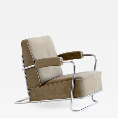 Ren Coquery Ren Coquery B251 Lounge Chair for Thonet Fr res 1930