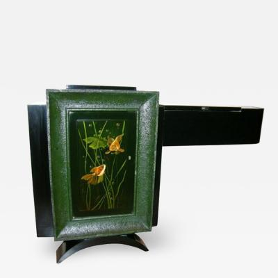 Ren Drouet French Art Deco Low Cabinet by Rene Drouet Gaston Suisse
