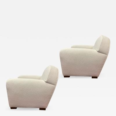 Ren Drouet Rene Drouet documented pair of comfy club chairs