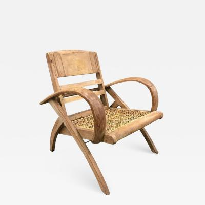 Ren Gabriel 1950s Cerused Lounge Chair Attributed to Rene Gabriel