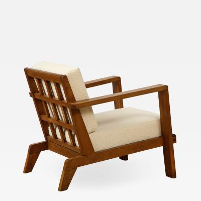 Ren Gabriel Lounge chair with detailed back by Ren Gabriel