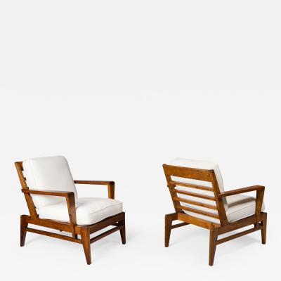 Ren Gabriel Pair of Ren Gabriel Lounge Chairs France 1950s