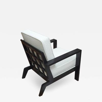 Ren Gabriel Rene Gabriel iconic black lacquered lounge chair
