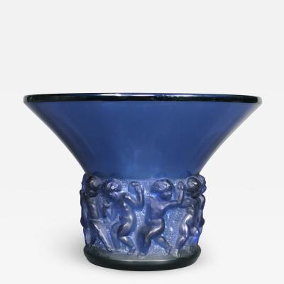 Ren Lalique Lalique Co A Blue Farandole Vase By R Lalique 1930