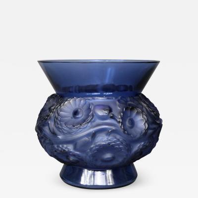Ren Lalique Lalique Co A Blue Soucis Vase By R Lalique Designed In 1930