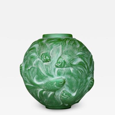Ren Lalique Lalique Co A Green Formose Vase Designed By R Lalique In 1924