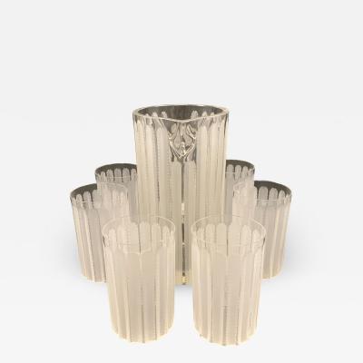 Ren Lalique Lalique Co A Jaffa limonade set by Lalique