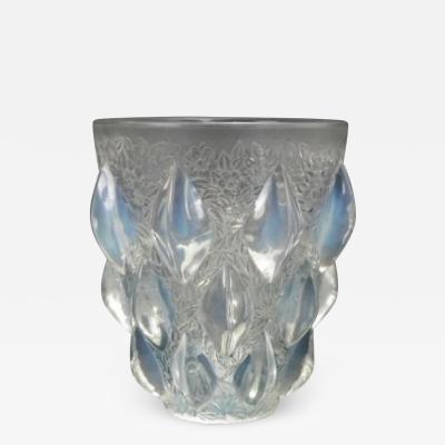 Ren Lalique Lalique Co Art Deco Rene Lalique Opalescent Glass Rampillion Vase
