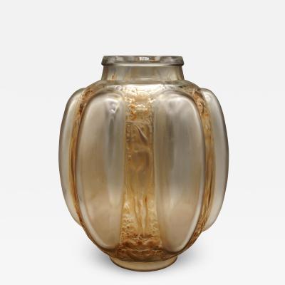 Ren Lalique Lalique Co Figurines and Masks vase by R Lalique