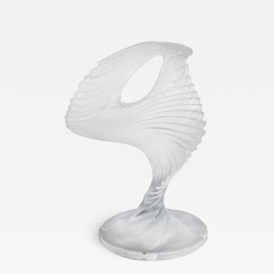 Ren Lalique Lalique Co Lalique Trophee Sculpture in Frosted Clear Crystal France circa 1995