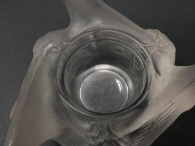 Ren Lalique Lalique Co Ren Lalique Clear Frosted Glass Trois Papillons Inkwell