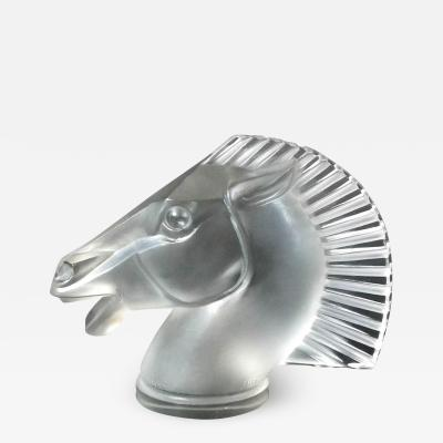 Ren Lalique Lalique Co Ren Lalique Glass Longchamp B Horse Head Mascot