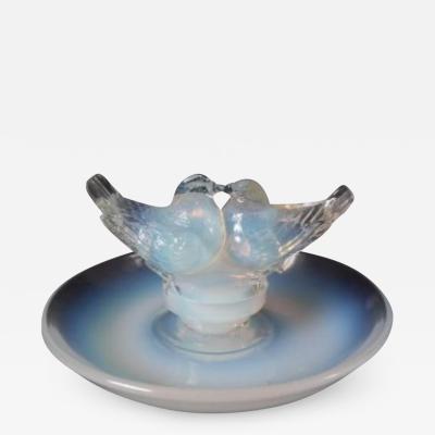 Ren Lalique Lalique Co Ren Lalique Opalescent Glass Deux Colombes Cendrier Ashtray