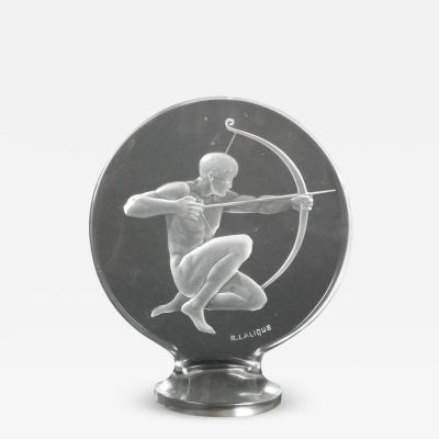 Ren Lalique Lalique Co Rene Lalique Clear Glass Archer Mascot
