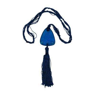Ren Lalique Lalique Co Rene Lalique Electric Blue Coloured Glass Graines Pendant