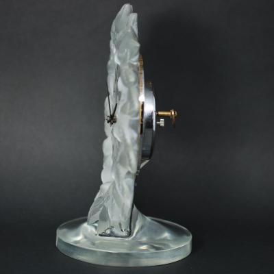 Ren Lalique Lalique Co Rene Lalique Frosted Glass Roitelets Clock