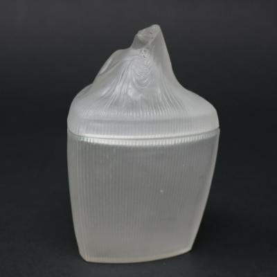 Ren Lalique Lalique Co Rene Lalique Frosted Glass Tete Femme Ointment Jar