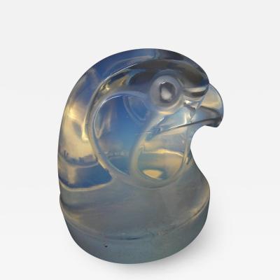 Ren Lalique Lalique Co Rene Lalique Glass Opalescent Tete depervier Falcon Mascot