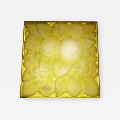 Ren Lalique Lalique Co Rene Lalique Glass Panel Fruits