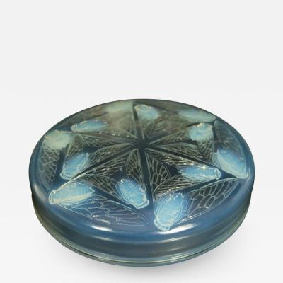 Ren Lalique Lalique Co Rene Lalique Opalescent Glass Cigales Box