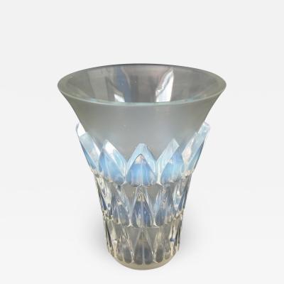 Ren Lalique Lalique Co Rene Lalique Opalescent Glass Feuilles Vase