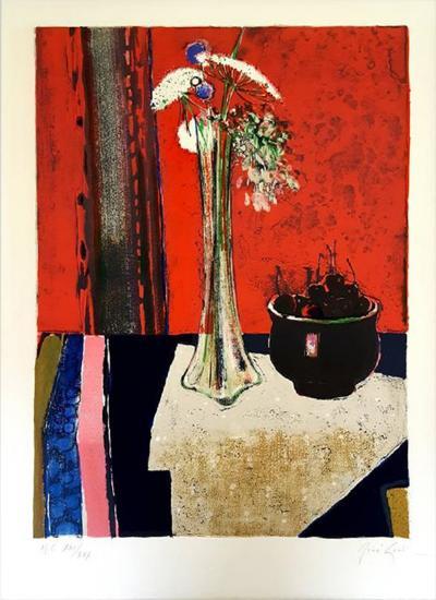 Ren Lenig Ren Lenig Original Handsigned Lithograph Ecole de Paris Circa 1960