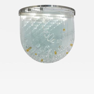 Ren Roubicek 1960 Ceiling Light by Rene Roubicek for Hotel Brno Czech Republic