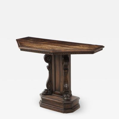 Renaissance Revival Walnut Console Table