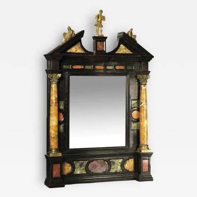 Renaissance Tabernacle Style Ebonized Mirror