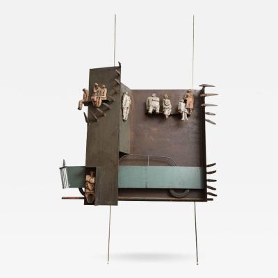 Renato Bassoli Wall Sculpture the Ride Made in Italy by Renato Bassoli