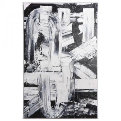 Renato Freitas Renato Freitas Original Oil on Canvas 2015 Black and White Two