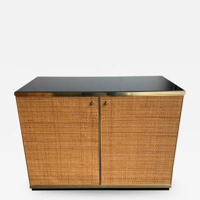 Renato Zevi Rattan and Brass Buffet by Renato Zevi Italy 1970s