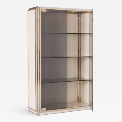 Renato Zevi Renato Zevi Vitrine Showcase with Glass Doors Italy 1970s