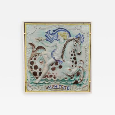 Rene Buthaud A Rare Art Deco Ceramics Panel by RENE BUTHAUD