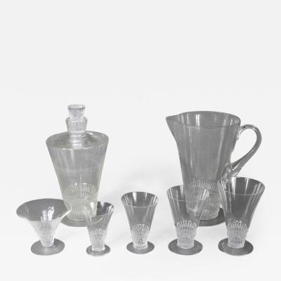 Rene Lalique A Bourgueil Glass Set Created By R Lalique In 1930