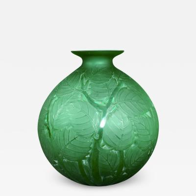 Rene Lalique A Green Milan Vase By R Lalique Designed In 1929