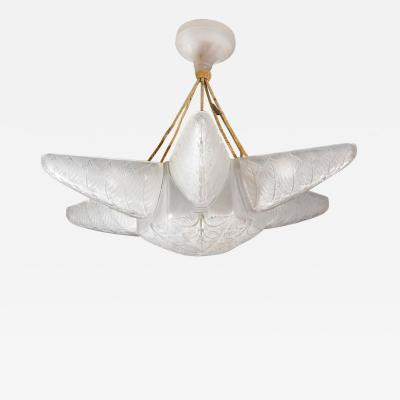 Rene Lalique A Noisetier Chandelier Created By R Lalique In 1924