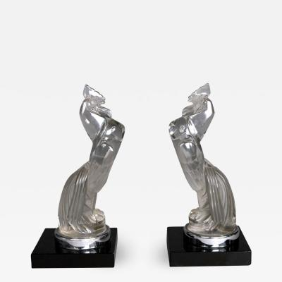 Rene Lalique A Pair Of Coq Houdans Bookends By R Lalique Made In 1929
